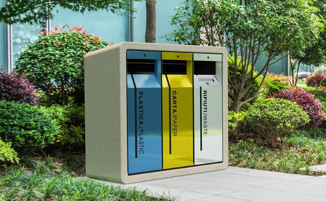 Papelera residuos reciclaje modelo Tri