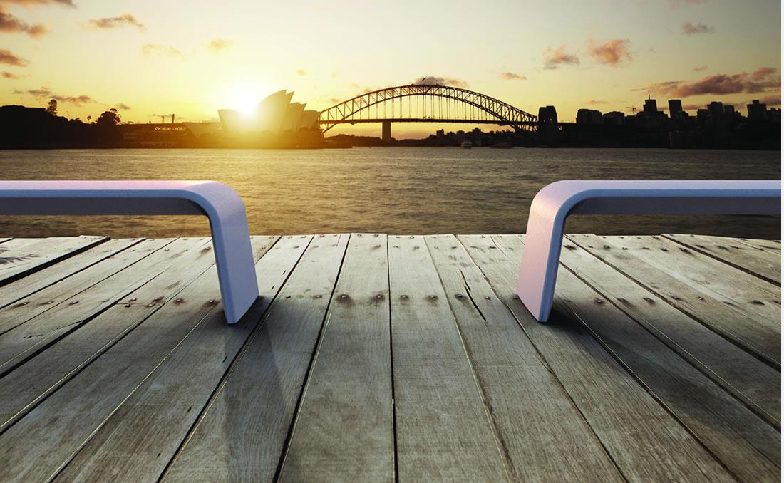 Alba banco hormigon UHPC (Ultra Hight Performance Concrete) YTER Sydney