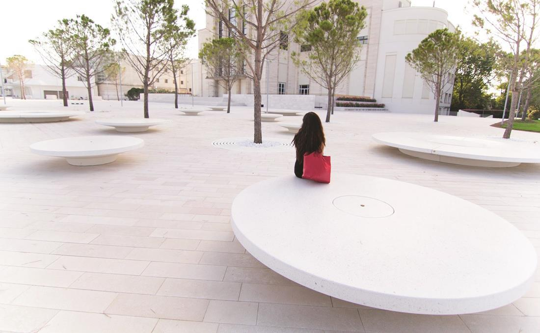 Banco circular hormigón YTER grandes dimensiones
