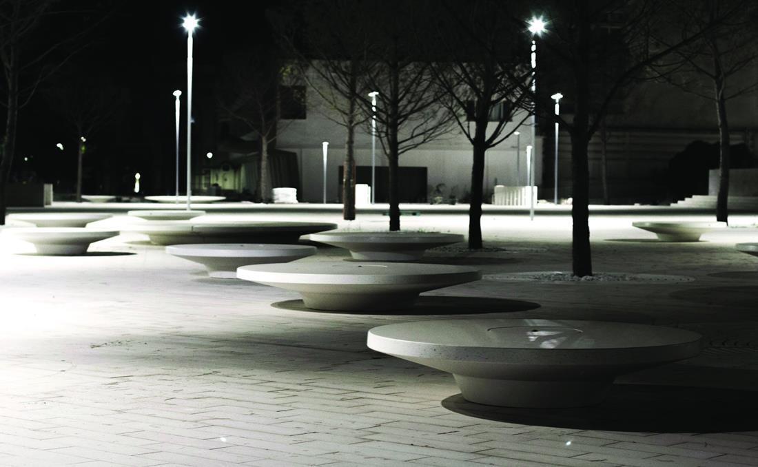 Banco circular hormigón YTER parques