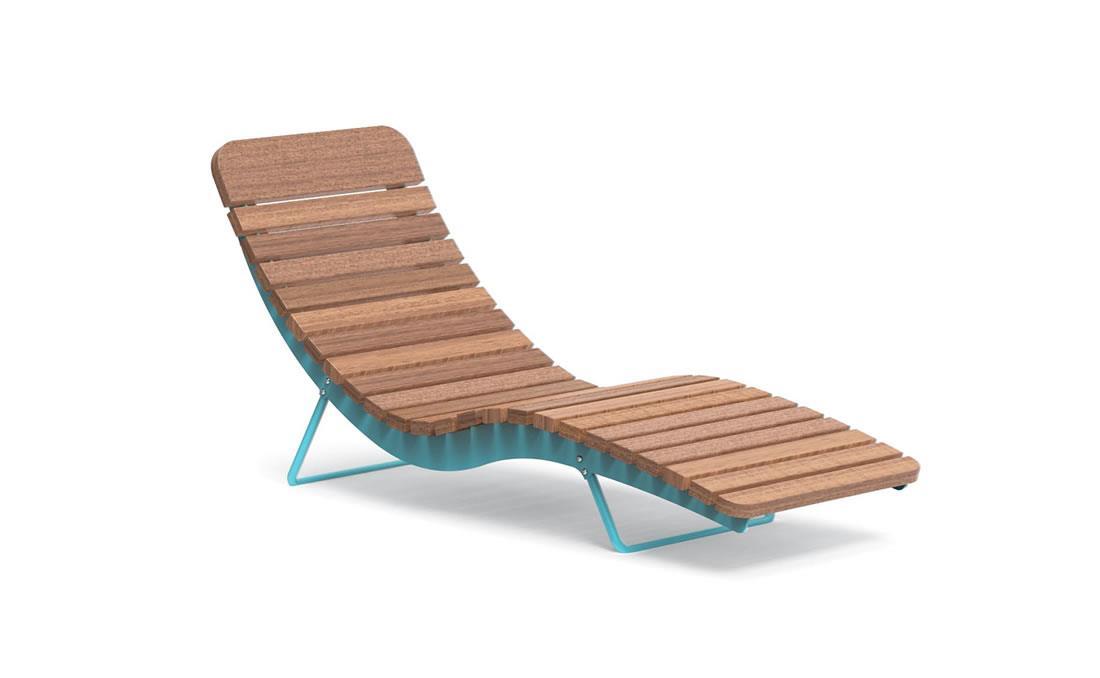 Chaise longue individual exterior mobiliario urbano YTER