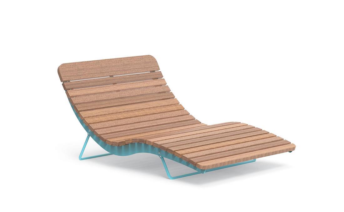 Chaise longue doble exterior mobiliario urbano YTER