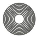 Circle alcorque circular hormigon UHPC. Imagen 3D negro