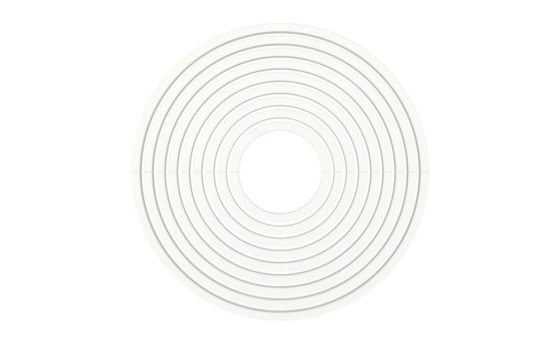 Circle alcorque circular hormigon UHPC. Imagen 3D blanco
