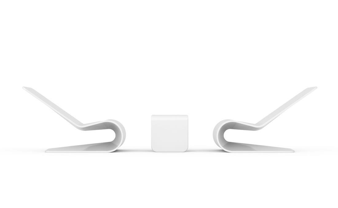 Tumbona chaise longue de hormigón. YTER diseño