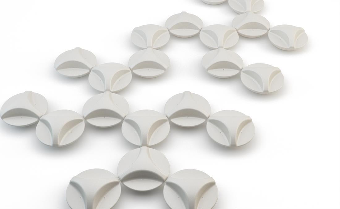 Banco DNA de YTER design en hormigón prefabricado