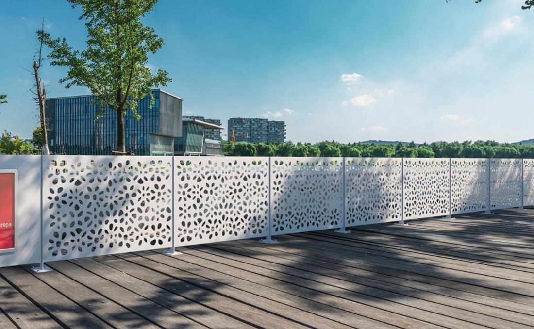 Decoro valla de alta gama, calidad y seguridad urbana. Detalle dibujo