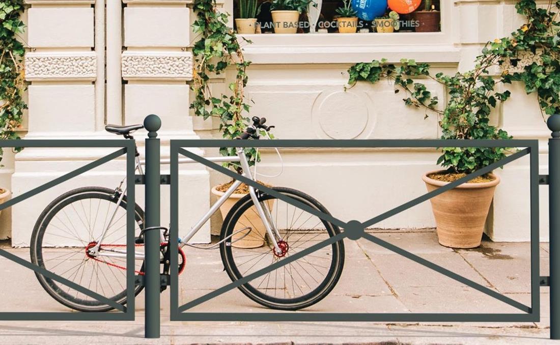 Epoca es una valla o barandilla urbana de diseño clásico