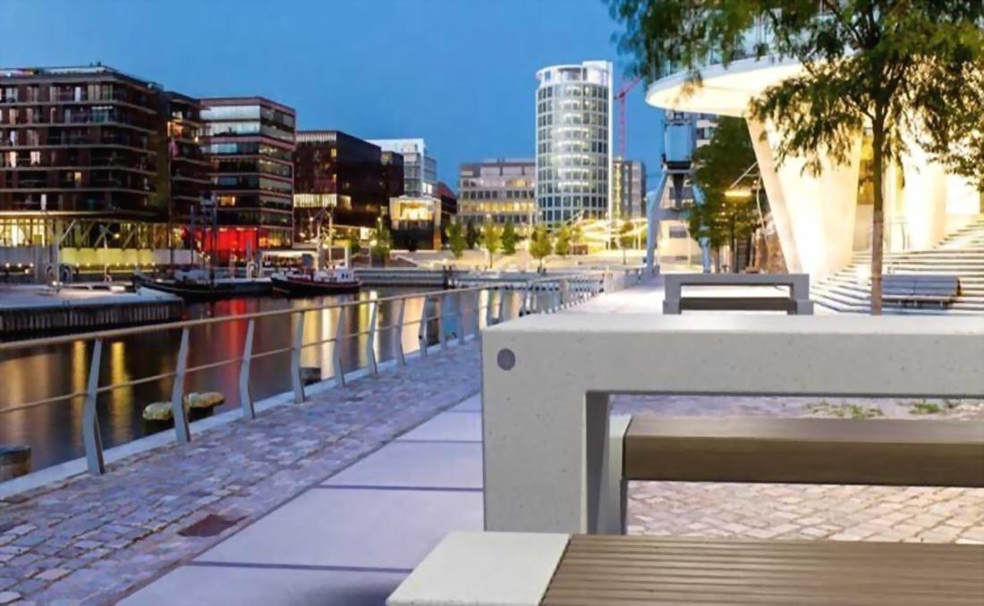 Mesa exterior urbana de hormigón para mobiliario urbano YTER