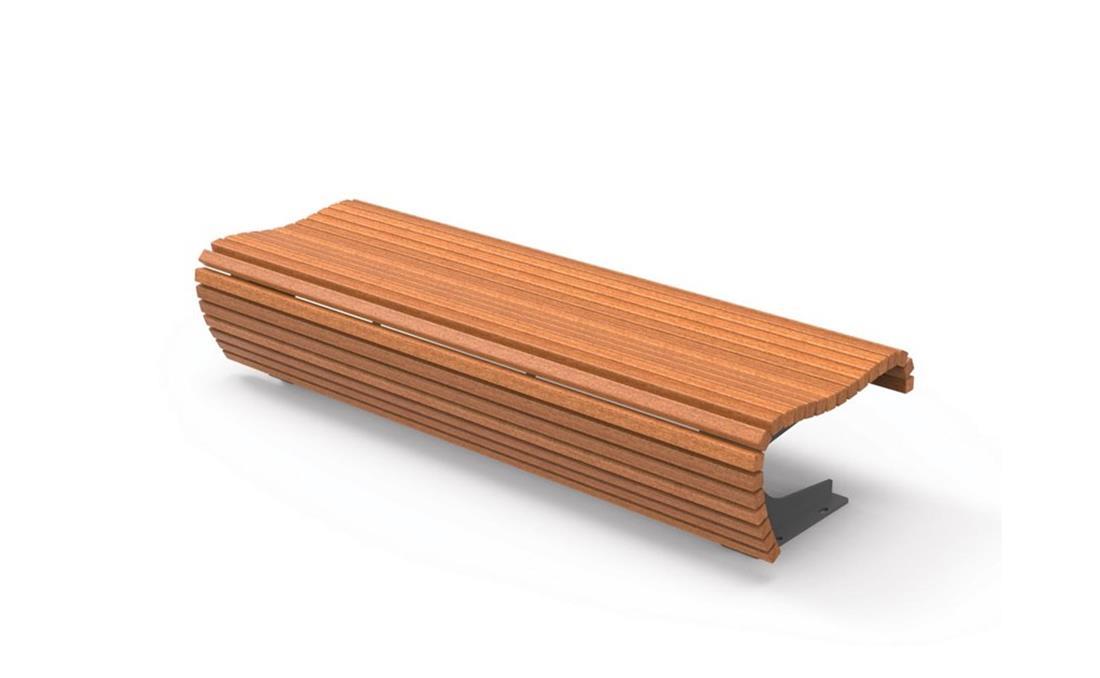 Banqueta flow en listones de madera