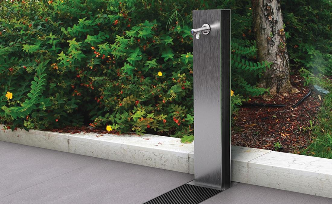 Fuente urbana de agua exterior