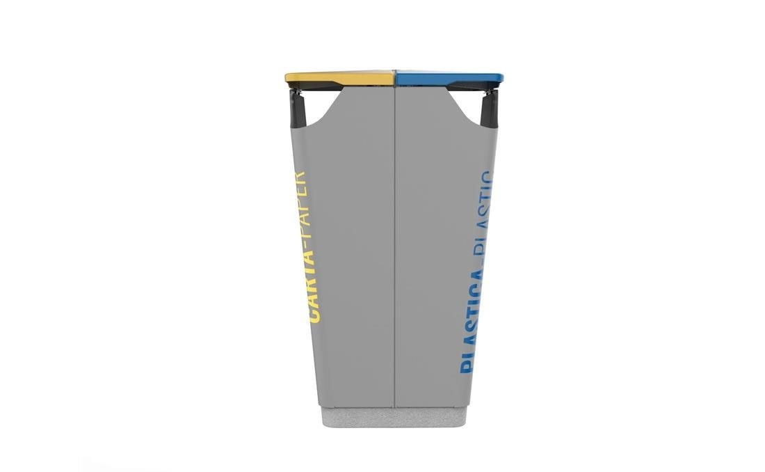 Papelera de reciclaje selección de residuos. YTER diseño