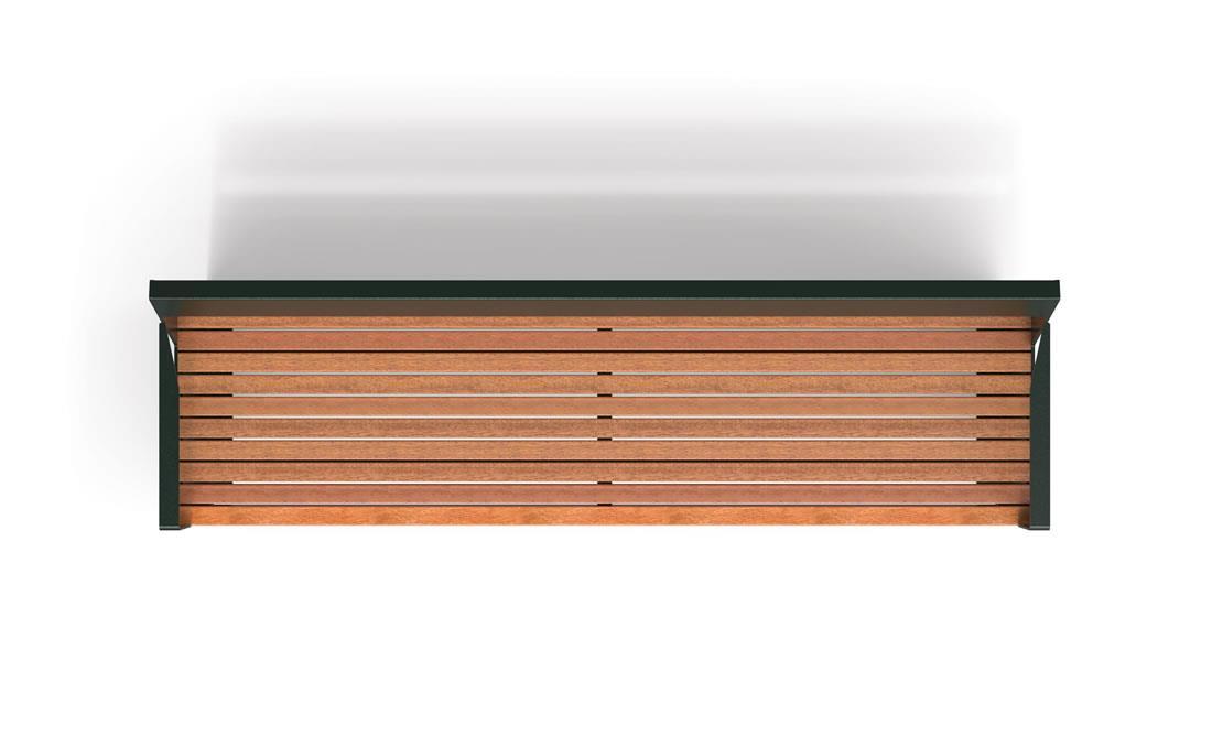 Lena banco acero metalico y madera exterior mobiliario urbano