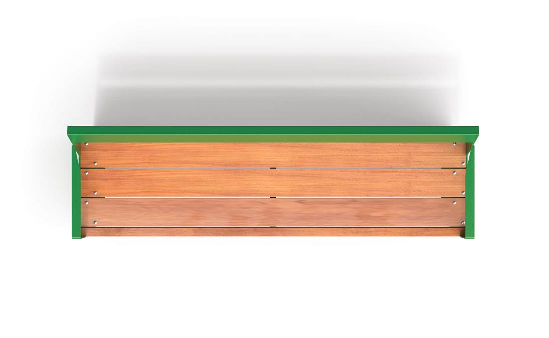Lena banco madera exterior listones gruesos mobiliario urbano