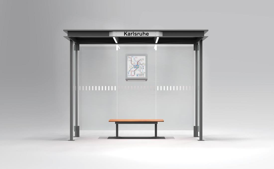 Marquesina de autobús de diseño YTER mobiliario urbano