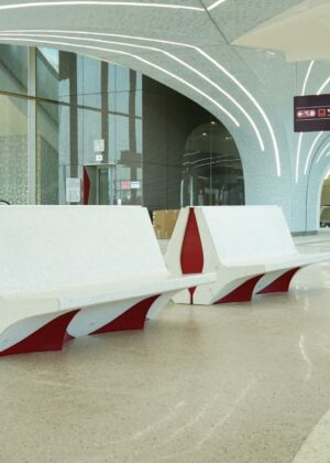 Ejemplo de mobiliario urbano interior.