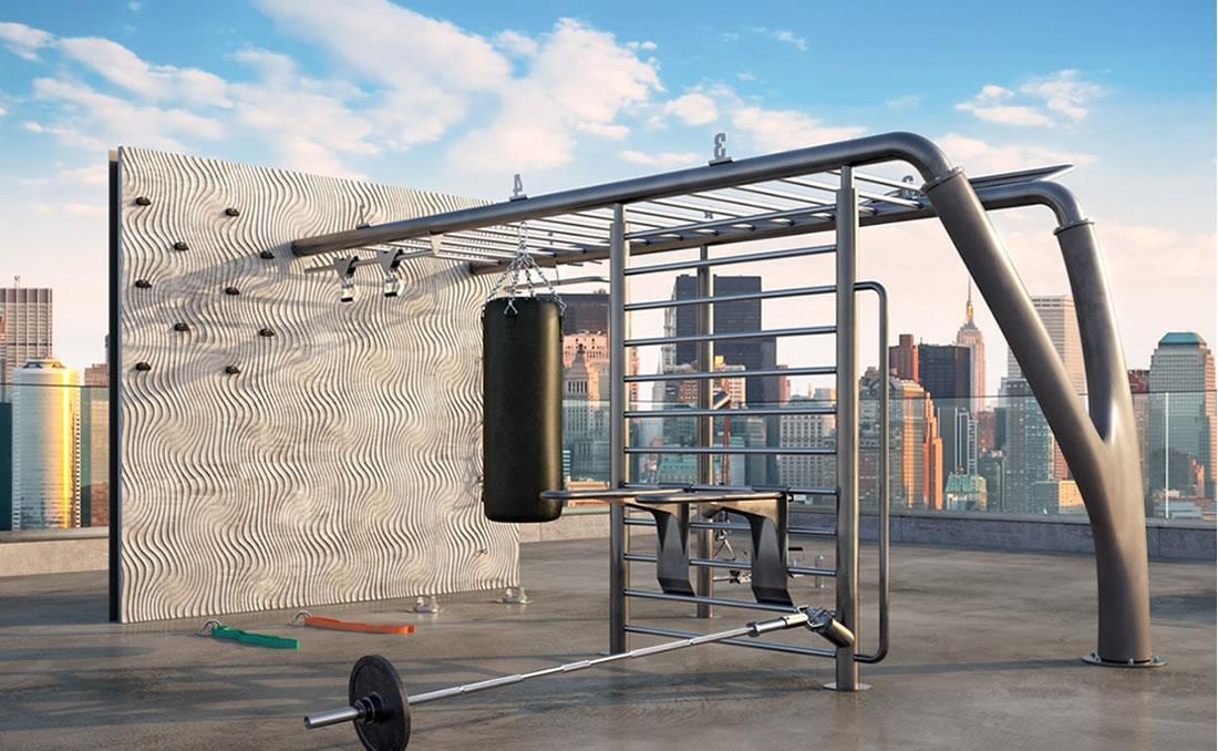 MyBeast parque calistenia urbano YTER terrado