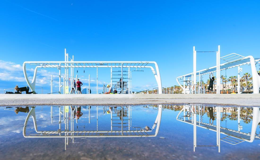 MyBeast parque calistenia urbano YTER playa