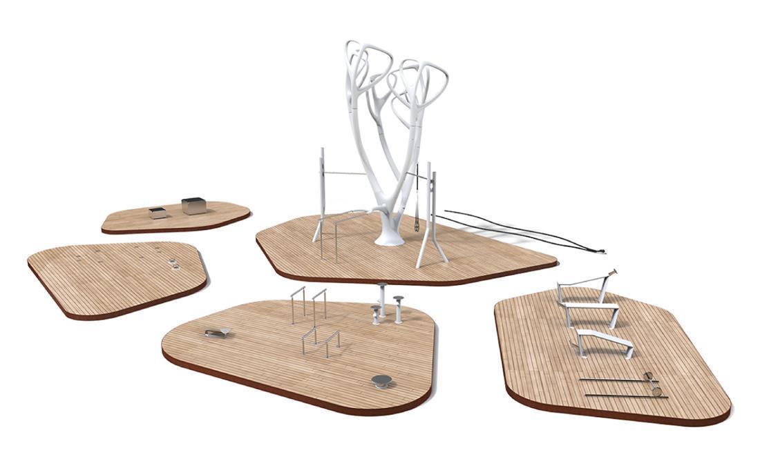 MyEquilibria parque calistenia fitness urbano 3D