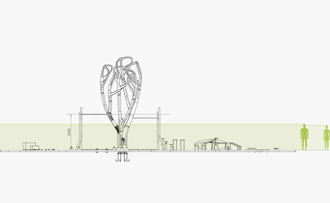 MyEquilibria parque calistenia fitness urbano dibujo técnico