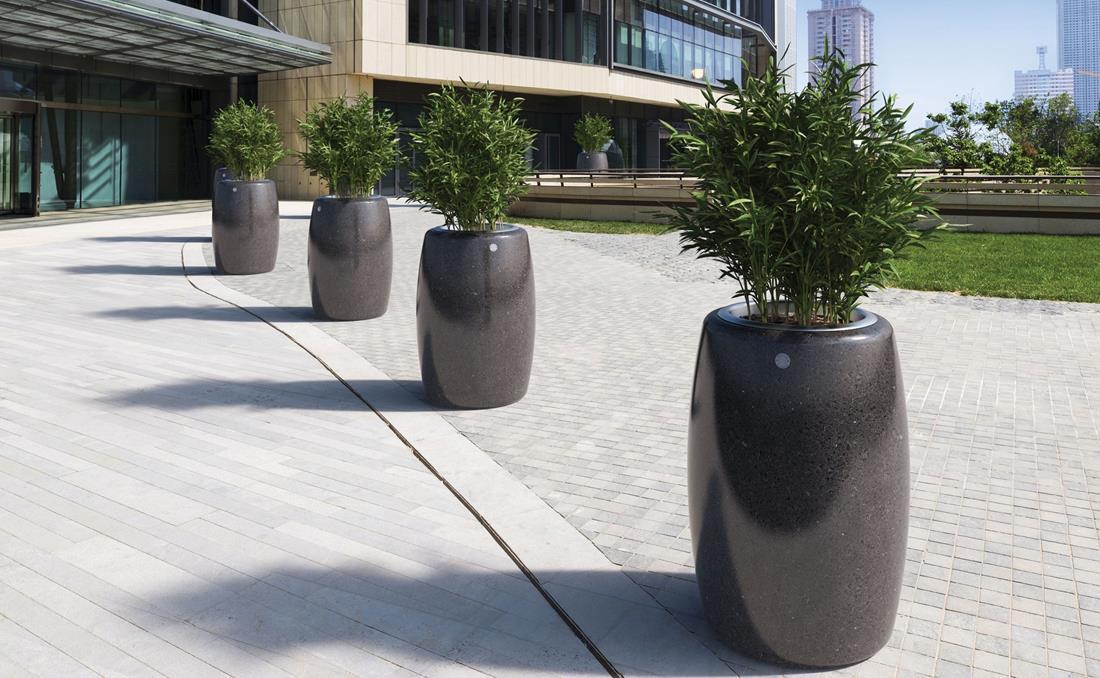 Orione jardineras urbanas exterior de hormigón negras