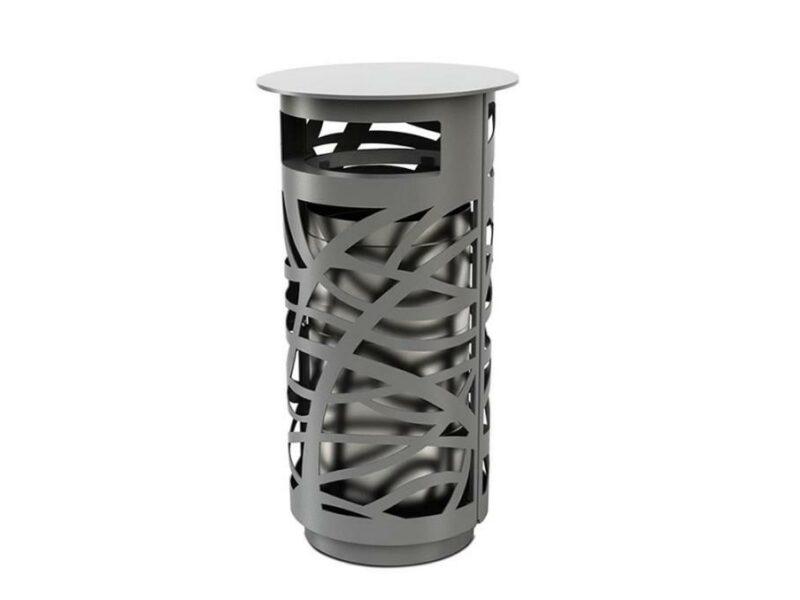 Papelera de exterior urbana Prestige metálica contenedor metálico