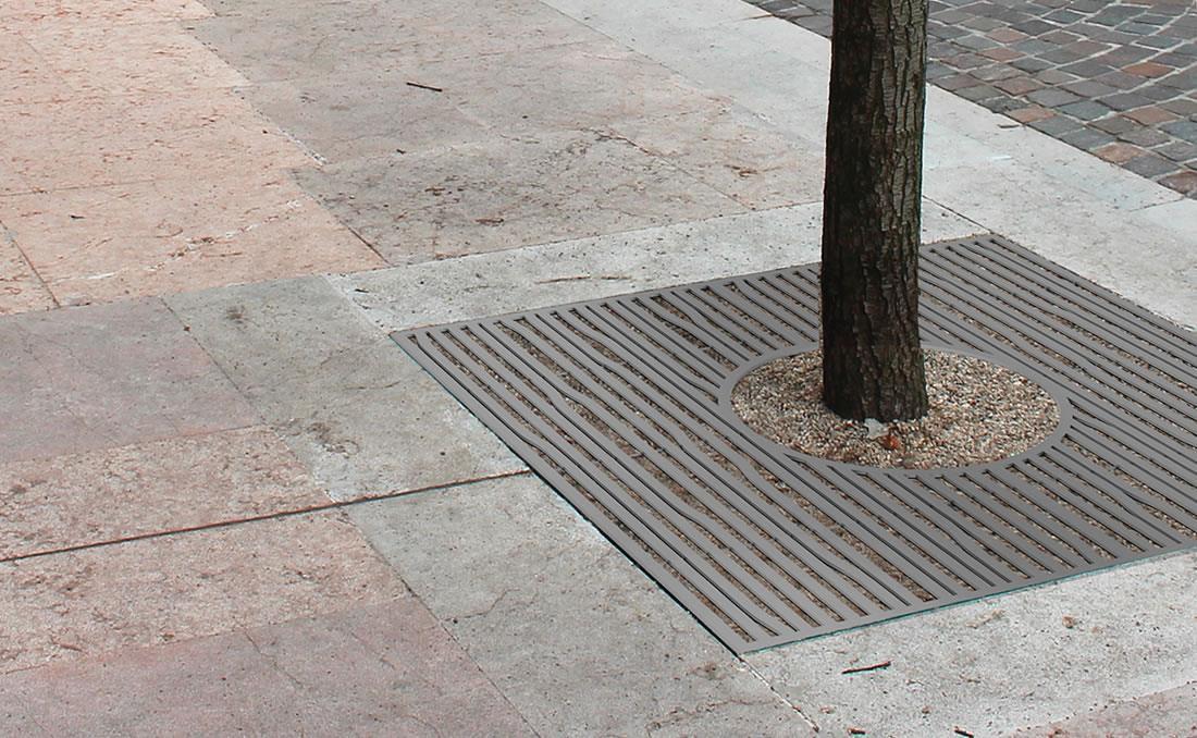 Alcorque árbol urbano metálico en acero