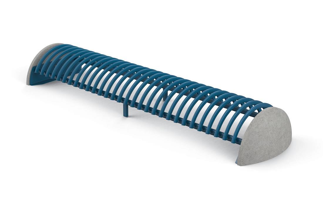 Riccio aparcabicis urbano color azul