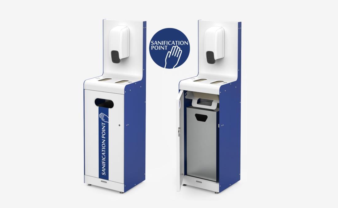 Sanification Point punto de higiene gel hidroalcohólico.