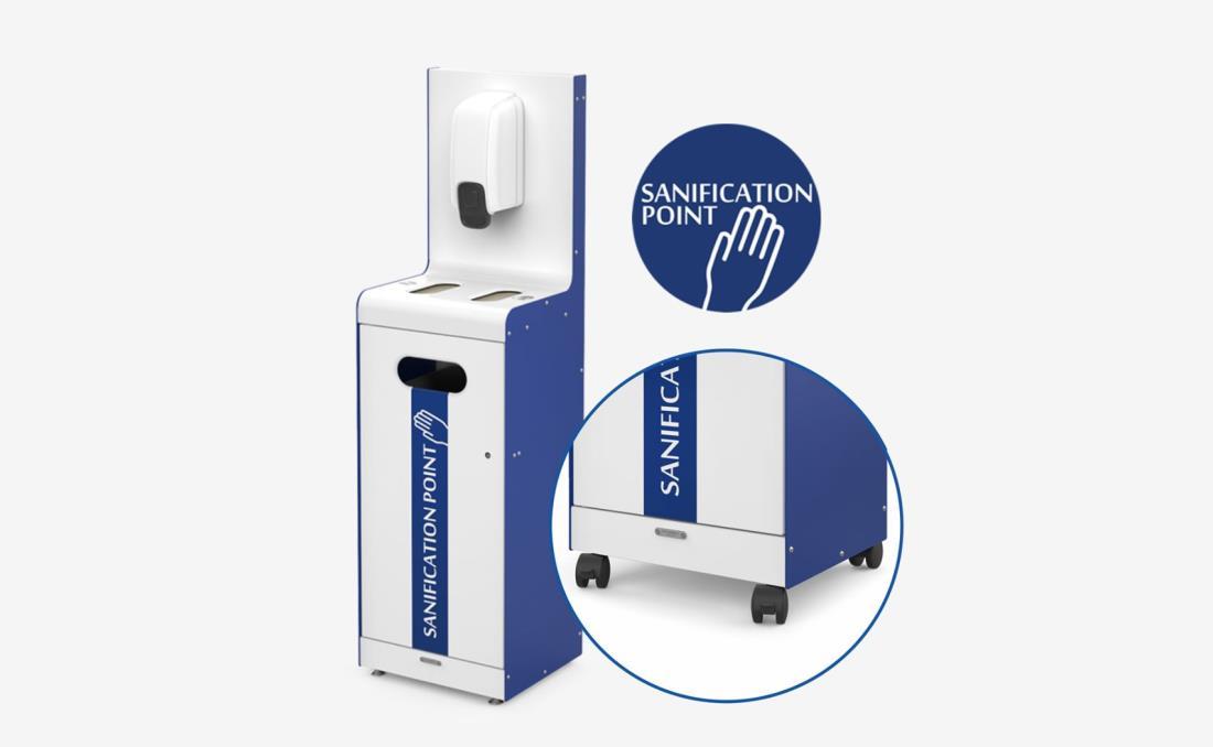 Sanification Point punto de higiene papel.