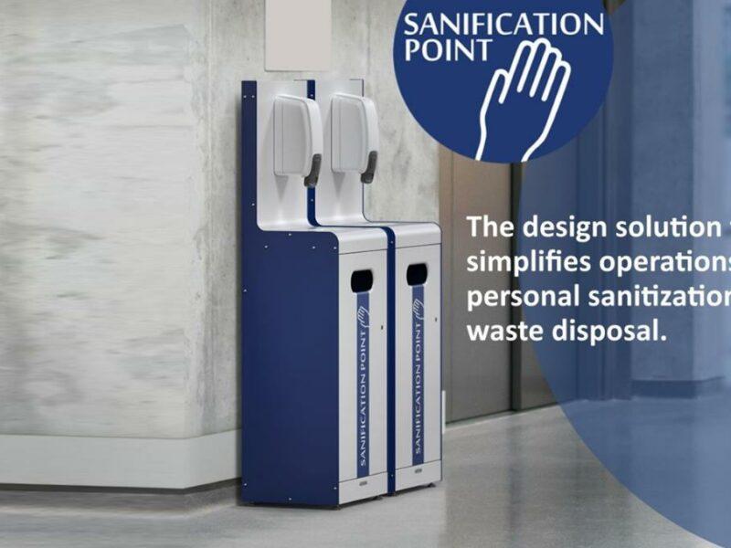 Sanification Point punto de higiene limpieza manos.