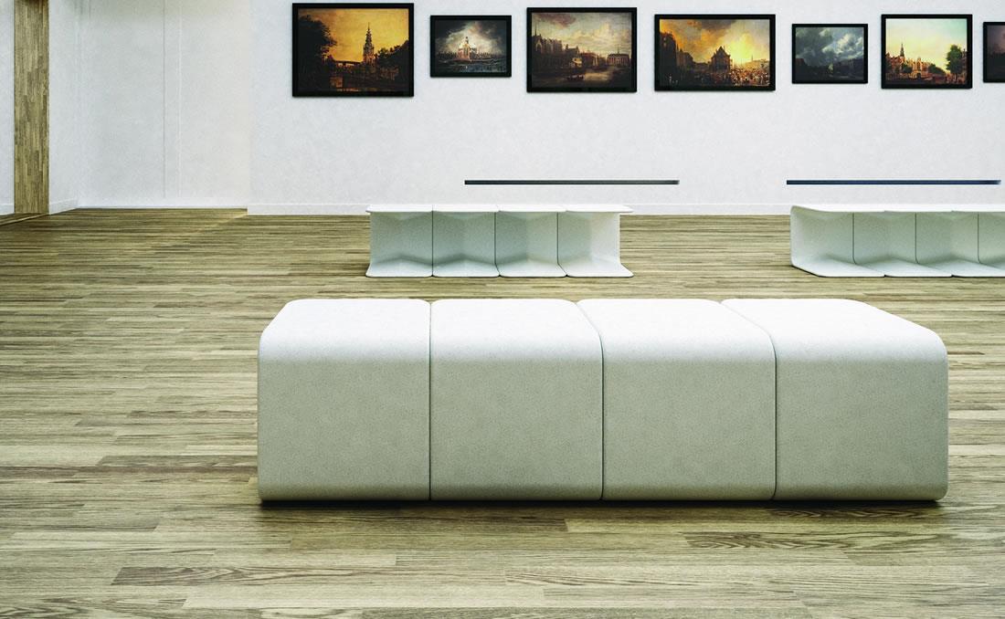 Spring asiento taburete de hormigón diseño moderno mobiliario urbano