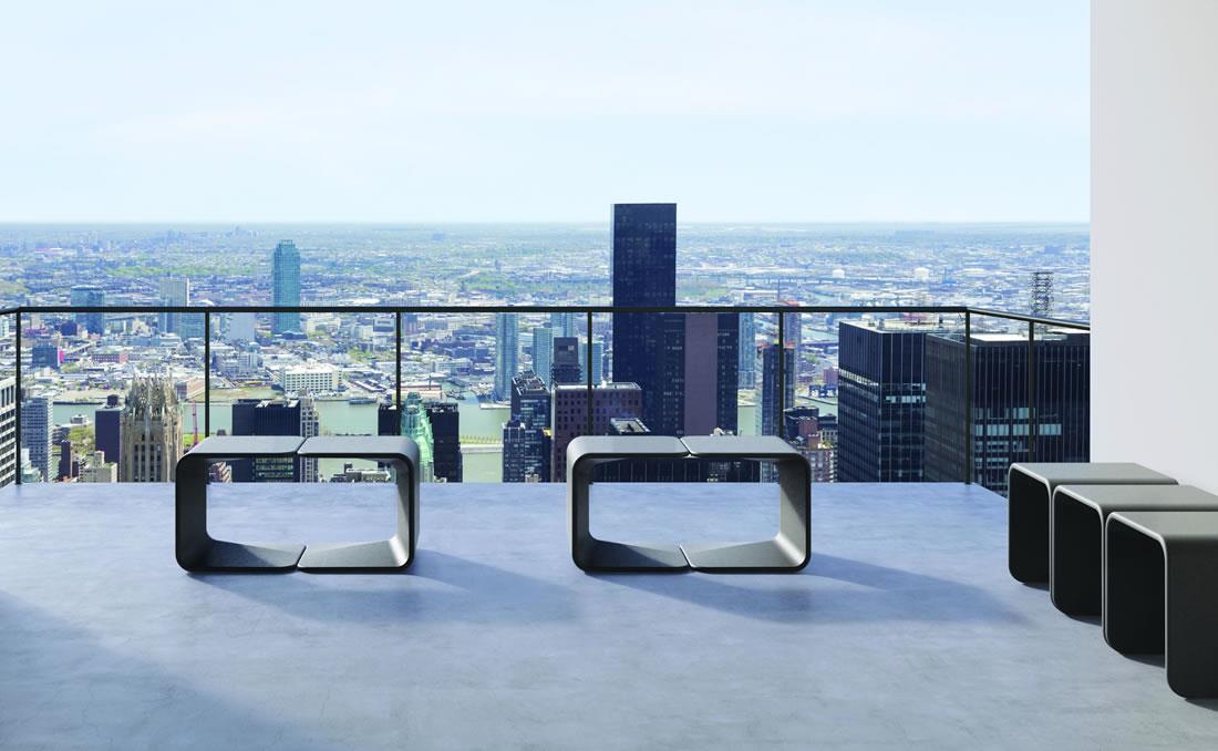 Spring asiento taburete de hormigón diseño moderno exteriores