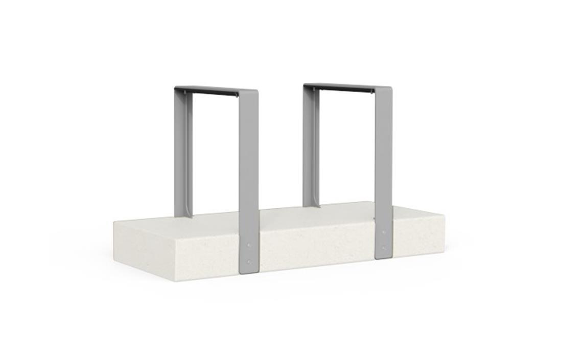 Aparcabicis de acero y hormigón mobiliario urbano