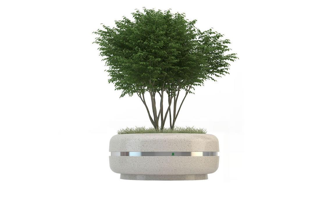 Jardinera hormigón cilindrica redonda circular prefabricada Timeless