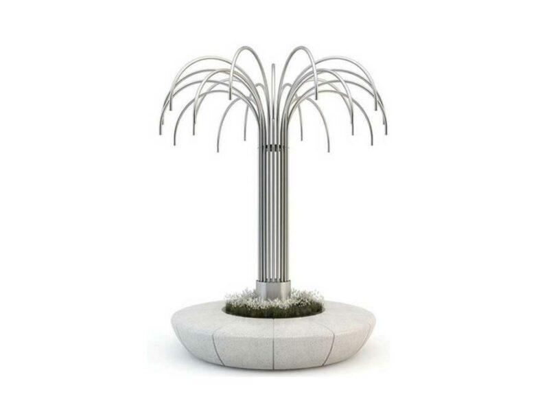 Jardinera banco Olimpo con iluminación.