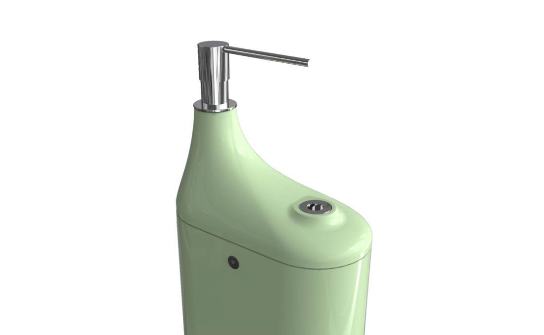 Dispensador hidrogel mecánico de pie desinfectante