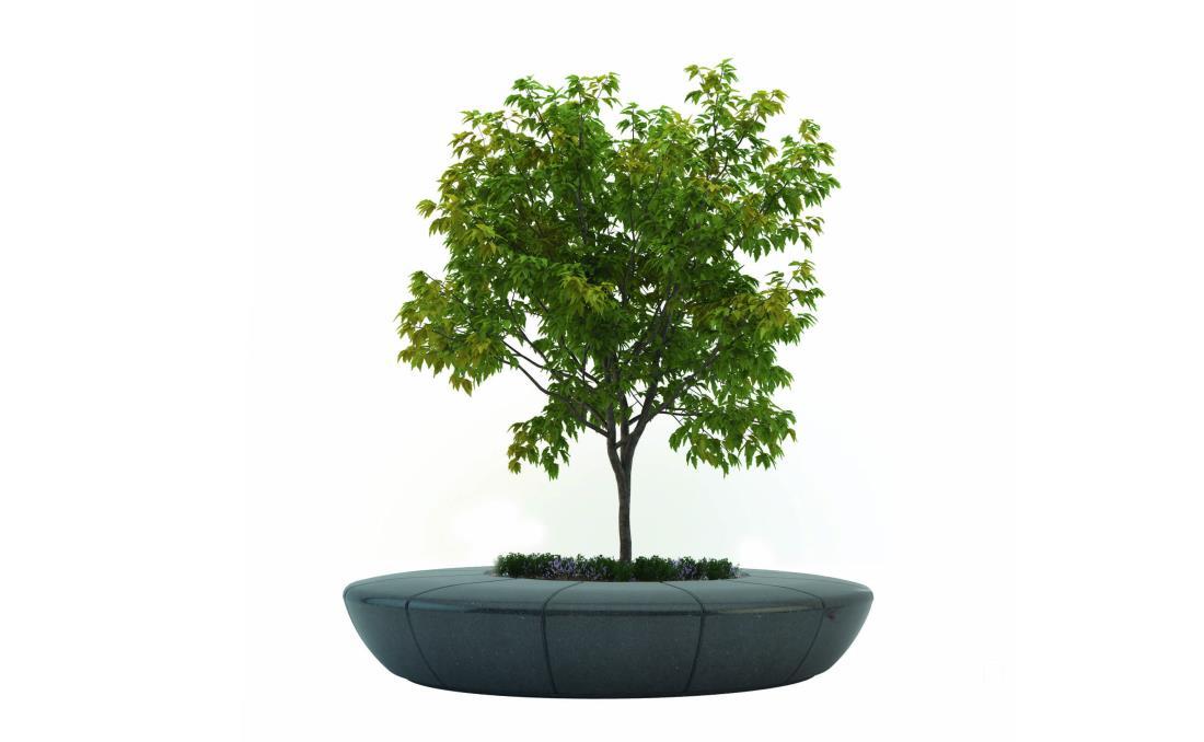 Jardinera banco Olimpo de moderno diseño. Color negro.