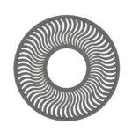 Alcorque modelo Solar circle en hormigón color gris.