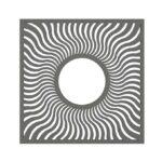 Alcorque Solar square de alta gama en color gris.