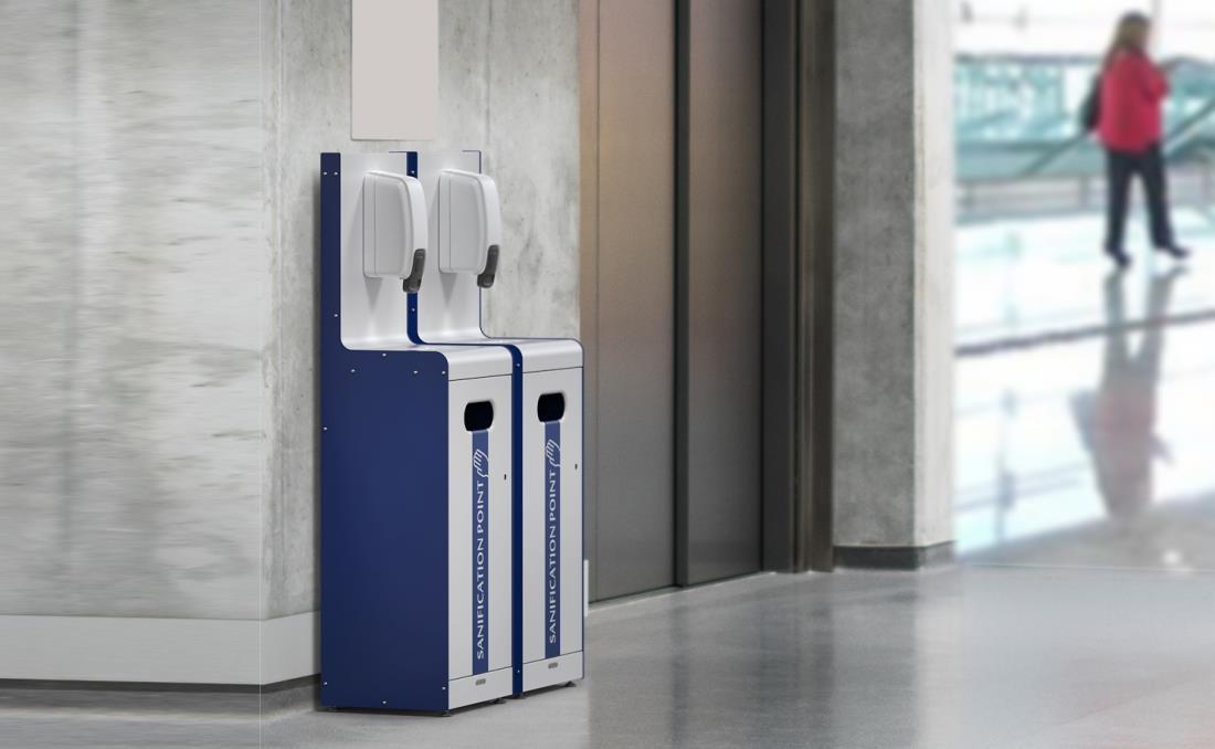 Dispensadores gel desinfectante para oficinas