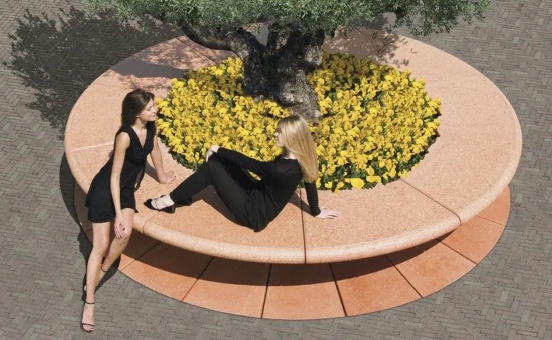 Vabco jardinera circular de grandes dimensiones YTER