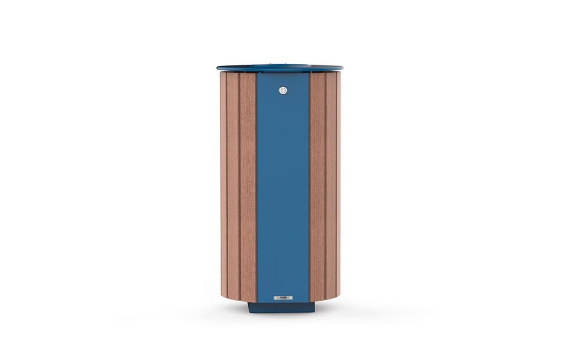 Papelera de madera mobiliario urbano