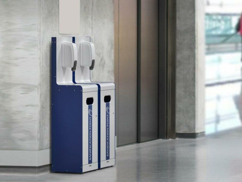 Dispensador de gel hidrolacohólico de pared