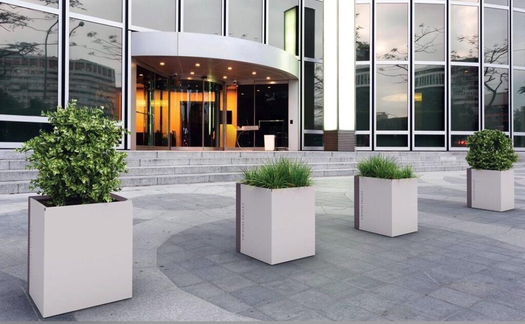 Jardineras de diseño arquietctónico